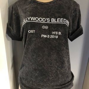 Women Vintage Hollywood's Bleeding Post Malone Top